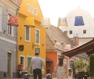 Szabadtéri családfotózás Szentendrén